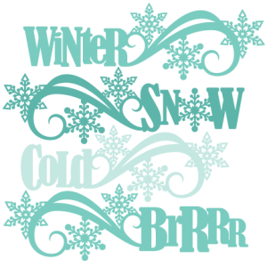 Winter Word Titles SVG scrapbook cut file cute clipart files for silhouette cricut pazzles free svgs free svg cuts cute cut files