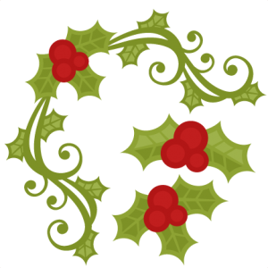 Christmas Holly Set  SVG scrapbook cut file cute clipart files for silhouette cricut pazzles free svgs free svg cuts cute cut files