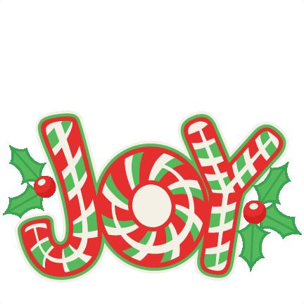 Christmas Candy Cane Joy Title SVG scrapbook cut file cute clipart ...