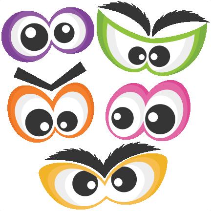 Halloween Spooky Eye Set SVG scrapbook cut file cute ...