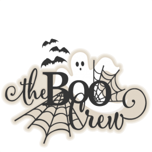 Halloween Title The Boo Crew SVG scrapbook cut file cute clipart files for silhouette cricut pazzles free svgs free svg cuts cute cut files