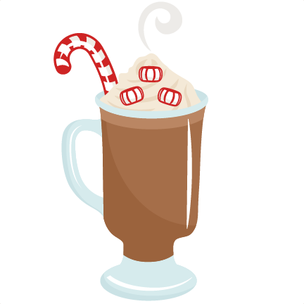Hot Chocolate With Candy Cane Clip Art
