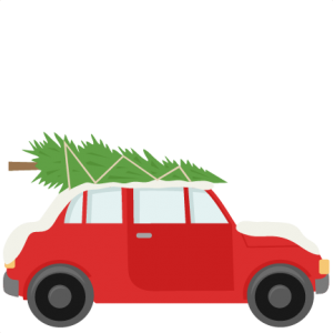 Car With Christmas Tree SVG scrapbook cut file cute clipart files for silhouette cricut pazzles free svgs free svg cuts cute cut files