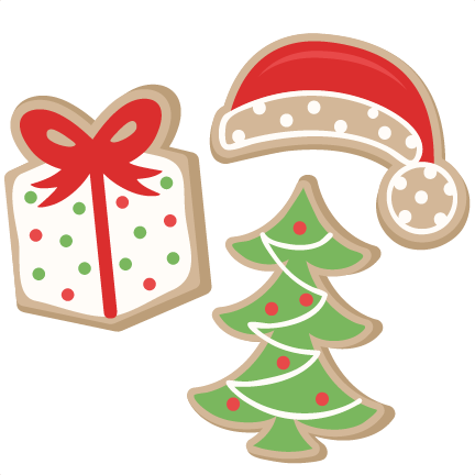 Christmas Cookie Set SVG scrapbook cut file cute clipart files for ...