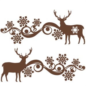 Reindeer Snowflake Flourish Set SVG scrapbook cut file cute clipart files for silhouette cricut pazzles free svgs free svg cuts cute cut files