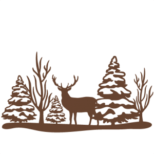 Reindeer Winter Scene SVG scrapbook cut file cute clipart files for silhouette cricut pazzles free svgs free svg cuts cute cut files