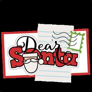 Dear Santa Title SVG scrapbook cut file cute clipart files for silhouette cricut pazzles free svgs free svg cuts cute cut files