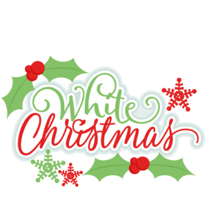 White Christmas Title SVG scrapbook cut file cute clipart files for silhouette cricut pazzles free svgs free svg cuts cute cut files