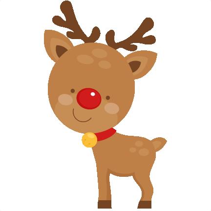 Cute Reindeer SVG scrapbook cut file cute clipart files ...