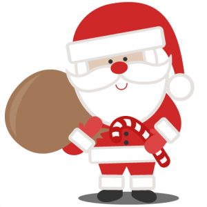 Santa With Bag SVG scrapbook cut file cute clipart files for silhouette cricut pazzles free svgs free svg cuts cute cut files