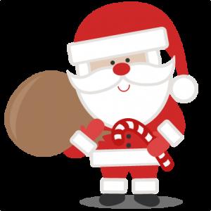 Santa With Bag SVG scrapbook cut file cute clipart files for silhouette cricut pazzles free svgs free svg cuts cute cut files