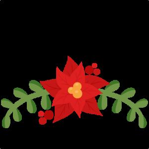 Christmas Poinsettia Flourish scrapbook cut file cute clipart files for silhouette cricut pazzles free svgs free svg cuts cute cut files