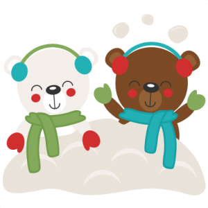 Christmas Bears in Snow SVG scrapbook cut file cute clipart files for silhouette cricut pazzles free svgs free svg cuts cute cut files