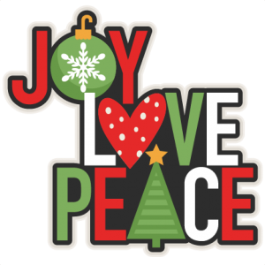 Joy Love Peace Christmas Title scrapbook cut file cute clipart files for silhouette cricut pazzles free svgs free svg cuts cute cut files