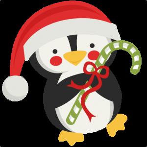 Penguin Holding Candy Cane SVG scrapbook cut file cute clipart files for silhouette cricut pazzles free svgs free svg cuts cute cut files