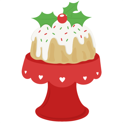 Christmas Cake scrapbook cut file cute clipart files for ...