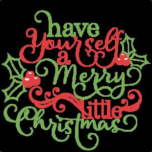 Christmas Phrase scrapbook cut file cute clipart files for silhouette cricut pazzles free svgs free svg cuts cute cut files