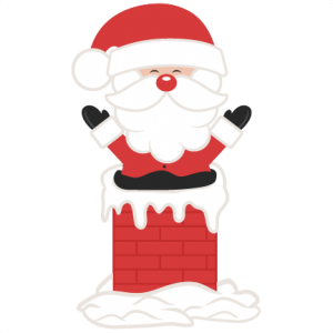 Santa In Chimney SVG scrapbook cut file cute clipart files for silhouette cricut pazzles free svgs free svg cuts cute cut files