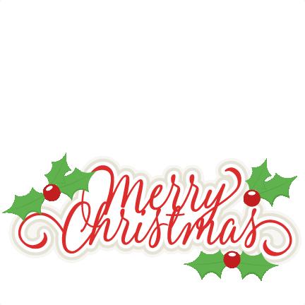 Download Merry Christmas Title SVG scrapbook cut file cute clipart ...