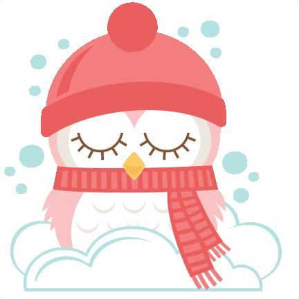 Winter Owls SVG scrapbook cut file cute clipart files for ...