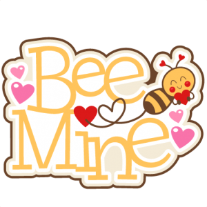 Bee Mine Title SVG scrapbook cut file cute clipart files for silhouette cricut pazzles free svgs free svg cuts cute cut files