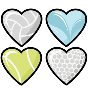 Sports Hearts Set scrapbook cut file cute clipart files for silhouette cricut pazzles free svgs free svg cuts cute cut files