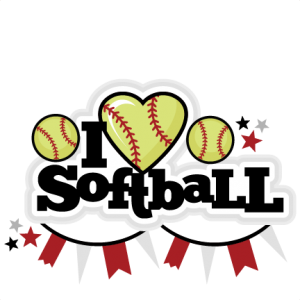 I Heart Softball Title scrapbook cut file cute clipart files for silhouette cricut pazzles free svgs free svg cuts cute cut files