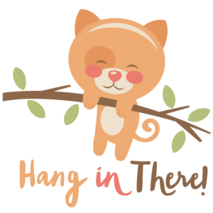 Hang in There Cat SVG scrapbook cut file cute clipart files for silhouette cricut pazzles free svgs free svg cuts cute cut files