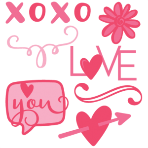 Valentine Set SVG scrapbook cut file cute clipart files for silhouette cricut pazzles free svgs free svg cuts cute cut files