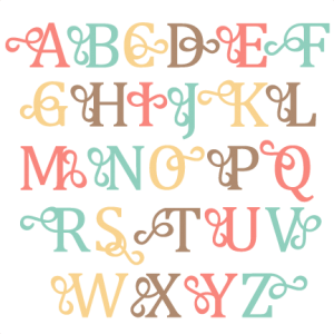 Flourish Alphabet Uppercase SVG scrapbook cut file cute clipart files for silhouette cricut pazzles free svgs free svg cuts cute cut files
