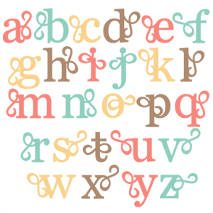 Flourish Alphabet Lowercase SVG scrapbook cut file cute clipart files for silhouette cricut pazzles free svgs free svg cuts cute cut files