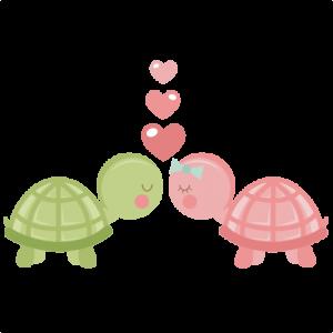 Turtles in Love SVG scrapbook cut file cute clipart files for silhouette cricut pazzles free svgs free svg cuts cute cut files