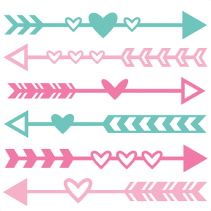 Valentine Arrow Set SVG scrapbook cut file cute clipart files for silhouette cricut pazzles free svgs free svg cuts cute cut files