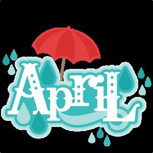 April Title SVG scrapbook cut file cute clipart files for silhouette cricut pazzles free svgs free svg cuts cute cut files