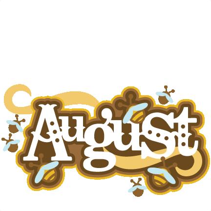August Title SVG scrap... August Calendar Clipart