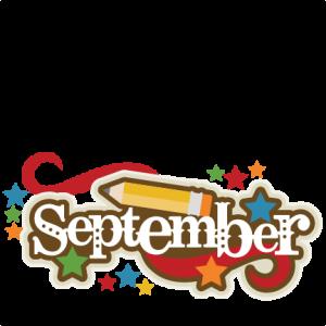 September Title SVG scrapbook cut file cute clipart files for silhouette cricut pazzles free svgs free svg cuts cute cut files