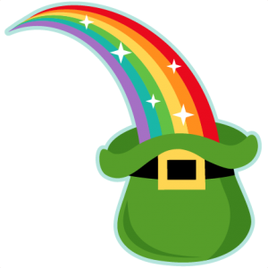 Rainbow into Leprechaun Hat SVG scrapbook cut file cute clipart files for silhouette cricut pazzles free svgs free svg cuts cute cut files