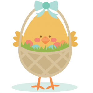 Chick in Easter Basket SVG scrapbook cut file cute clipart files for silhouette cricut pazzles free svgs free svg cuts cute cut files