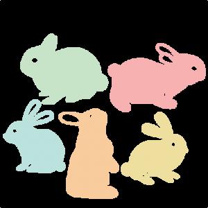 Easter Bunny Set SVG scrapbook cut file cute clipart files for silhouette cricut pazzles free svgs free svg cuts cute cut files