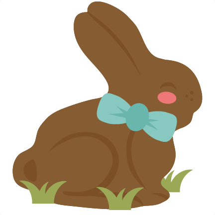 Chocolate Bunny SVG cutting files for cricut silhouette ...