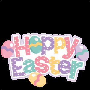 Hoppy Easter Title SVG scrapbook cut file cute clipart files for silhouette cricut pazzles free svgs free svg cuts cute cut files