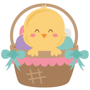 Easter Chick in Basket SVG scrapbook cut file cute clipart files for silhouette cricut pazzles free svgs free svg cuts cute cut files