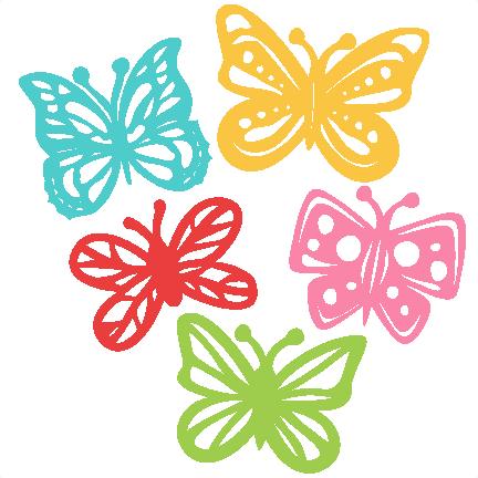 Butterfly Set Svg Scrapbook Cut File Cute Clipart Files