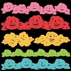 Rose Borders SVG scrapbook cut file cute clipart files for silhouette cricut pazzles free svgs free svg cuts cute cut files