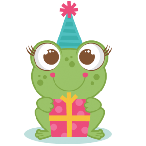 Birthday Frog SVG scrapbook cut file cute clipart files for silhouette cricut pazzles free svgs free svg cuts cute cut files