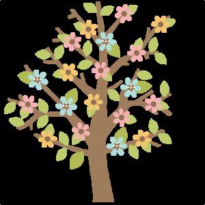 Spring Tree scrapbook cut file cute clipart files for silhouette cricut pazzles free svgs free svg cuts cute cut files