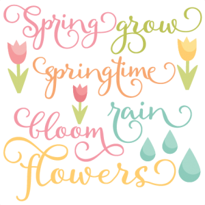 Spring Words scrapbook cut file cute clipart files for silhouette cricut pazzles free svgs free svg cuts cute cut files