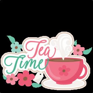 Tea Time Title SVG scrapbook cut file cute clipart files for silhouette cricut pazzles free svgs free svg cuts cute cut files