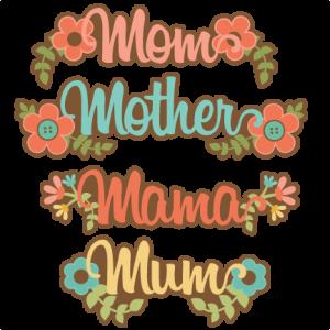 Mom Titles SVG scrapbook cut file cute clipart files for silhouette cricut pazzles free svgs free svg cuts cute cut files