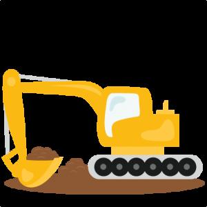 Excavator SVG scrapbook cut file cute clipart files for silhouette cricut pazzles free svgs free svg cuts cute cut files